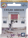 Иглы для швейной машины Organ Top 5/75 Embr