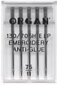 Иглы для швейной машины Organ Anti-Glue 5/75