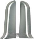 Заглушка для плинтуса Ideal Комфорт 081 Металлик серебристый