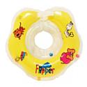 FLIPPER Круг на шею для купания малышей ЖЕЛТЫЙ