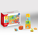 HAUNGER Игровой набор ПИРАМИДКА:5 стаканчиков,3 игрушки