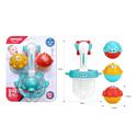 HAUNGER Набор игрушек для ванной РЫБКИ (блистер, 4 элемента)