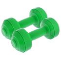 Гантели пластиковые европодвес 2х1 кг green