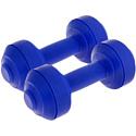 Гантели пластиковые европодвес 2х1 кг blue