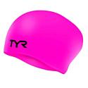 TYR Шапочка для плавания Long Hair Wrinkle-Free Silicone Cap LCSL/693 Pink