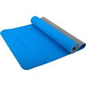 Гимнастический коврик для йоги, фитнеса Starfit FM-201 TPE blue/grey (173x61x0,4)