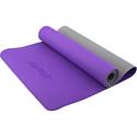 Гимнастический коврик для йоги, фитнеса Starfit FM-201 TPE purple/grey (173x61x0,5)
