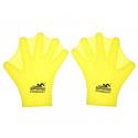 Аква-перчатки-лопатки силиконовые Zez Sport SP01-RT5 yellow