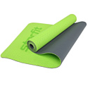 Гимнастический коврик для йоги, фитнеса Starfit FM-202 TPE green (173x61x0,7)