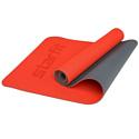 Гимнастический коврик для йоги, фитнеса Starfit FM-202 TPE red (173x61x0,5)