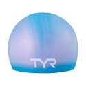 TYR Шапочка для плавания Long Hair Wrinkle-Free Silicone Junior Cap LCSJRL/420 Light Blue