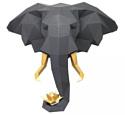 """3D модель из картона PAPERRAZ Трофейная голова """"Cлон и Лотос"""", графитовый, PP-1SLL-2GG"""