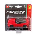 """BBurago, Италия Машинка металлическая BBURAGO """"Ferrari 599 GTO"""" 1:43, 18-36001(5)"""