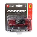 """BBurago, Италия Машинка металлическая BBURAGO """"Ferrari California T (Open Top)"""" 1:43, 18-36001(9)"""