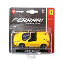 """BBurago, Италия Машинка металлическая BBURAGO """"Ferrari 458 Spider"""" 1:43, 18-36001(7)"""