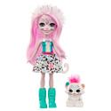 """Enchantimals, Голландия Мини-кукла Enchantimals """"Сибил Снежный Леопард"""" с питомцем (15 см), GJX42"""