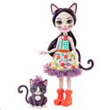 """Enchantimals, Голландия Мини-кукла Enchantimals """"Сиеста Кэт"""" с питомцем (15 см), GJX40"""