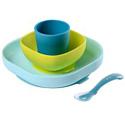 Набор силиконовой посуды Beaba 4 предмета, арт.913428 (цвет: синий)