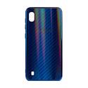 "EXPERTS Силиконовый чехол ""AURORA GLASS CASE"" для Samsung Galaxy A10 с LOGO синий"