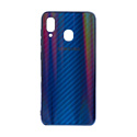 "EXPERTS Силиконовый чехол ""AURORA GLASS CASE"" для Samsung Galaxy A20 / A30 с LOGO синий"