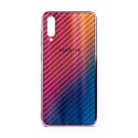 """EXPERTS Силиконовый чехол """"AURORA GLASS CASE"""" для Samsung Galaxy A70 с LOGO розовый"""