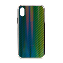 """EXPERTS Силиконовый чехол """"AURORA GLASS CASE"""" для iPhone XR с LOGO зеленый"""