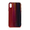 """EXPERTS Силиконовый чехол """"AURORA GLASS CASE"""" для iPhone XR с LOGO красно-синий"""