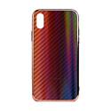 """EXPERTS Силиконовый чехол """"AURORA GLASS CASE"""" для iPhone XR с LOGO красно-черный"""
