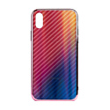 """EXPERTS Силиконовый чехол """"AURORA GLASS CASE"""" для iPhone XR с LOGO розовый"""