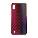 "EXPERTS Силиконовый чехол ""AURORA GLASS CASE"" для Samsung Galaxy A10 с LOGO красно-синий"
