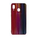 "EXPERTS Силиконовый чехол ""AURORA GLASS CASE"" для Samsung Galaxy A20 / A30 с LOGO красно-синий"
