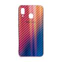 "EXPERTS Силиконовый чехол ""AURORA GLASS CASE"" для Samsung Galaxy A20 / A30 с LOGO розовый"