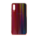 "EXPERTS Силиконовый чехол ""AURORA GLASS CASE"" для Samsung Galaxy A40 с LOGO красно-синий"