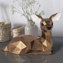"""3D-конструктор из бумаги Оригами фигура """"ОЛЕНЕНОК"""" PP-2OLN-BRO PAPERRAZ"""