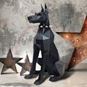 "3D-конструктор из бумаги Оригами фигура ""ДОБЕРМАН"" PP-2DBR-BLA PAPERRAZ"