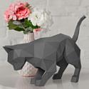 """3D-конструктор из бумаги Оригами фигура """"КОТ ДЫМОК"""" PP-2KOT-GRA PAPERRAZ"""