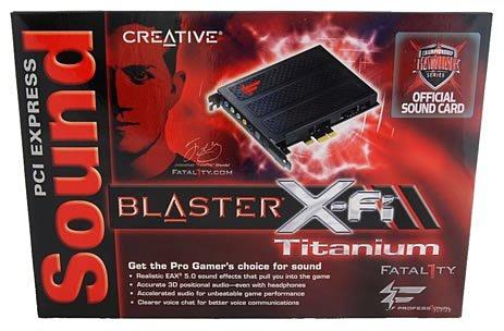 Обзор Creative Sound Blaster X-Fi Titanium Fatal1ty Pro