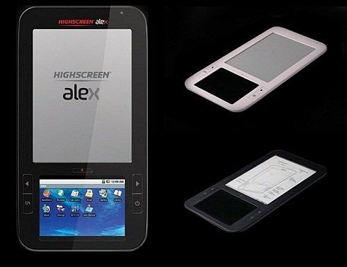 Два экрана, Android и электронные книги: ридер Highscreen Alex