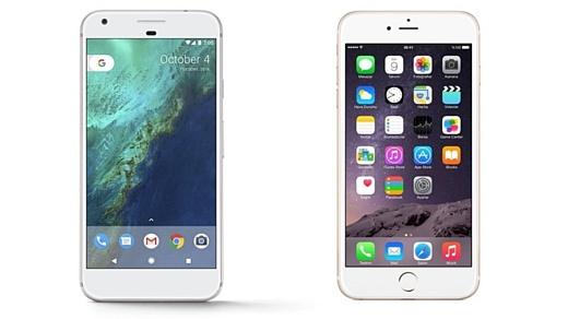 Google Pixel против iPhone 7